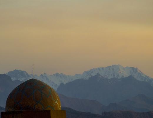 Yazd, Shir Kuh en arrière plan